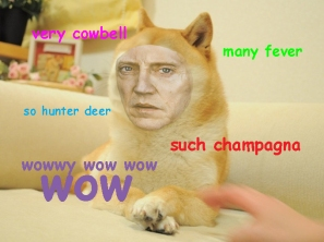 I always imagined the doge meme in Christopher Walken's voice so this happened